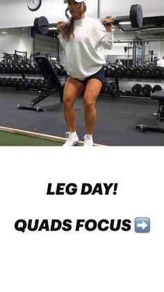 Leg And Glute Workout, Leg Day Workouts, Gym Workout Videos, Dumbbell Workout, At Home Workouts, Legs Day, Plein Air, Fitness Goals, Yoga Fitness