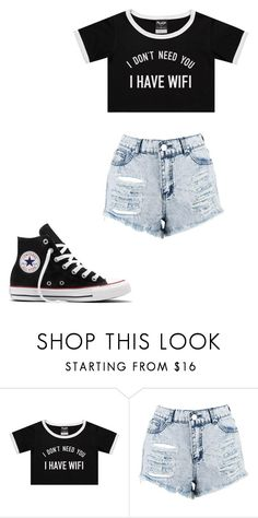 """""""Untitled #264"""" by cruciangyul on Polyvore featuring Boohoo and Converse"""