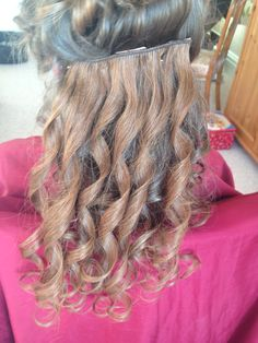 extensions used for creating full bodied curl style