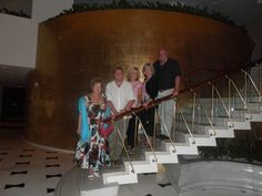 A Brady Bunch Photo Moment on the Lobby Staircase in the Fontainebleau, Miami Beach