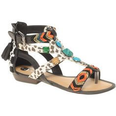 beaded tribal sandles | shoes sandals river island sandals river island tribal print beaded ...  Crush!