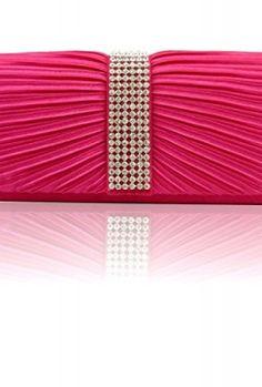 Zarla-Ladies-Designer-Clutch-Bags-Pleated-Women-Satin-Bridal-Party-Prom-Diamante-Shoulder-Handbags-Black-Silver-Gold-Red-Purple-Navy-Royal-Blue-Yellow-Fuchsia-Pink-Coral-Orange-Indigo-Voilet-Rose-0