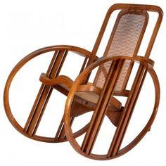 Antonio Volpe, Joseph Hoffmann (attr;) Egg rocking chair, c.1920, ©1rstdibs.com