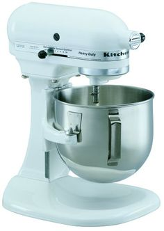 KitchenAid Heavy Duty Series Stand Mixer, White My favorite mixer! I have this plain white one. I'm looking for some vinyls to decorate it. Kitchen Aid Appliances, Kitchen Mixer, Specialty Appliances, Small Appliances, Kitchen And Bath, Kitchen Gadgets, Kitchen Dining, Kitchens