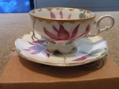 Lefton Hand Painted China Tea Cup and Saucer, WK 912