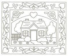 punch needle or french knot rug/ Motivo para bordado ruso/ Maria L.bertolino/ www.pinterest.com...