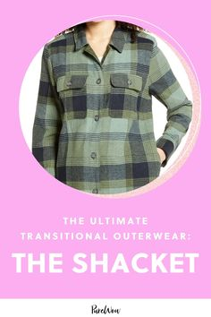 Introducing the shacket—a combination shirt and jacket—which might just be our favorite summer-to-fall outerwear piece. #outerwear #shacket #fall Plaid Flannel, Flannel Shirt, Autumn Summer, Winter, Floral Midi Dress, Fall Wardrobe, Autumn Fashion, Summer Trends, Bring It On