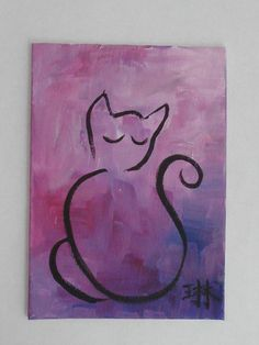 I love the simplicity of the cat, and the shading and brush strokes of the background! Doing this for sure!