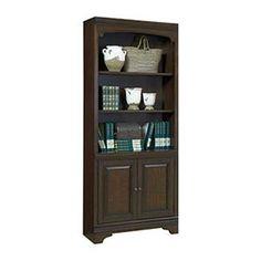 Essex Door Bookcase in Molasses Brown | Nebraska Furniture Mart