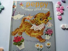 Vintage Elf Children's Book - Peppy The Lonely Little Puppy - by Frieda Friedman, Rand McNally Book-Elf Book 1947 by ScrapPantry, $11.00 USD