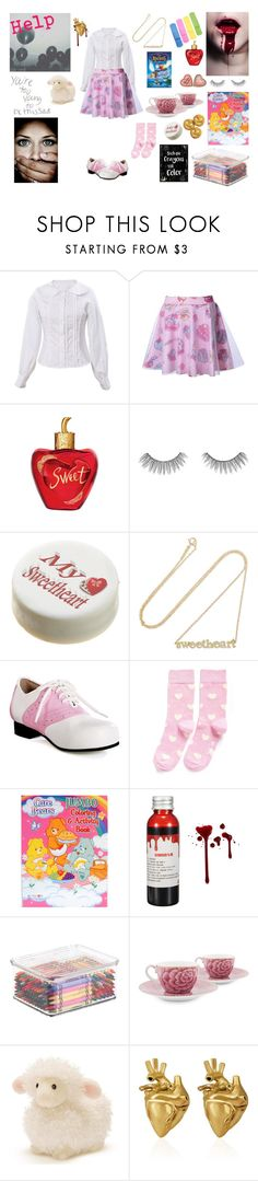 """Sweetheart"" by psycho-tsundere-fox ❤ liked on Polyvore featuring Lolita Lempicka, tarte, Jennifer Meyer Jewelry, Happy Socks, PiP Studio, Gund and StrangeFruit"