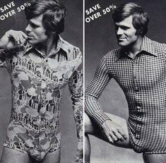 Editoriais dos anos 70 mostram que a moda masculina já foi mais divertida