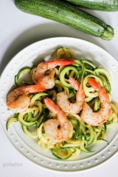 If you are looking for lunch or dinner that takes less than 10 minutes, is healthy, and yummy delicious, check out this Shrimp Scampi Zoodles Recipe.