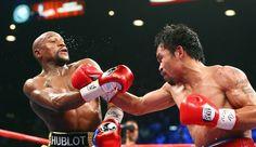 """L'Américain Floyd Mayweather a remporté """"le combat du siècle"""" face au Philippin Manny Pacquiao, samedi à Las Vegas, unifiant les titres dans la catégorie des welters en ajoutant la ceinture WBO à celles de WBA et WBC qu'il détenait déjà."""