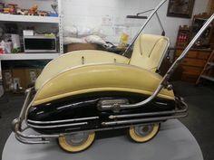 Rare 1930's art deco perambulator - $2300 chrome stroller