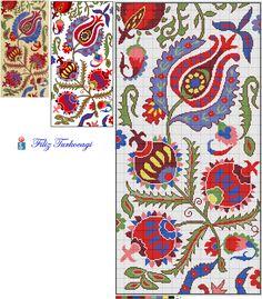 Suzeni desenlerin ikincisidir... Designed by Filiz Türkocağı... ( Suzeni embroidery- 2 )