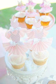 Cute little ballerina cupcakes!