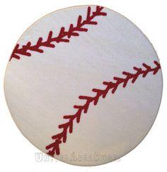 Toddler sports room: Baseball rug