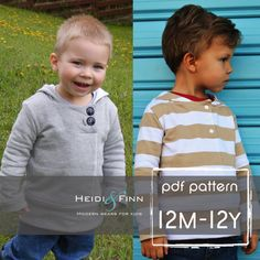 What a perfect top for your little trendsetter! This pattern is for the Urban Unisex hoodie. The sweater features a slightly fitted body and arm,