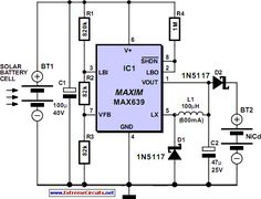 Solar-Powered High Efficiency Charger circuit project