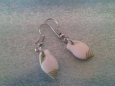 Green Seashell Earrings by AbbyRoseDesign on Etsy, $5.00