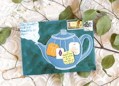 Illustrated Teapot Envelope Art Tutorial | The Postman's Knock
