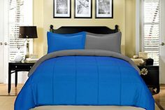 #look You can add vitality, yet modern style to a bedroom with the help of this #South Bay reversible down alternative bedding comforter set. This micro fiber re...