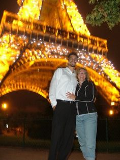 Paris - Under the Eiffle tower.. with my handsome son