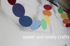 sweet and lovely crafts: Claire's Rainbow Birthday party