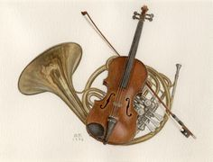 violin-and-french-horn.jpg (576×440)