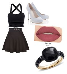 """black night out"" by cassandrakingsbury on Polyvore featuring New Look, Lipsy, Pomellato and Smashbox"