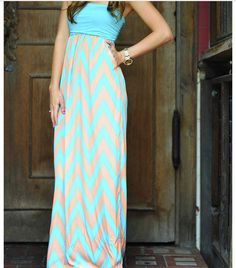 Maxi dress great for the beach and even for everyday!