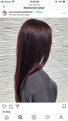 Elegant Rhinestones Coffin Nails Designs - New Ideas Cherry Brown Hair, Mahogany Hair, Hair Doctor, Burgundy Hair, Maroon Hair, Rides Front, Brown Hair Colors, Brunette Hair, Hair Highlights
