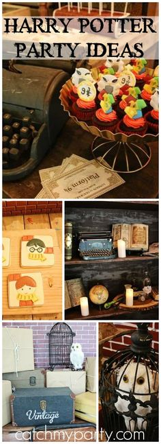 Check out this Harry Potter party where they recreate the Great Hall scene! See more party ideas at CatchMyParty.com!