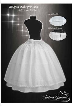Enagua para vestidos de Fiesta estilo princesa