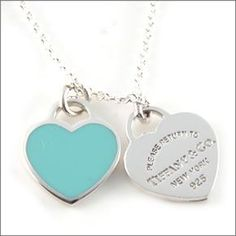 tiffany and co necklace with just blue heart and the silver on the other side