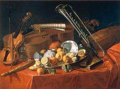 Cristoforo Munari - Naturaleza muerta con instrumentos musicales