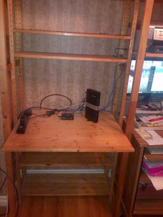 A little crude in looks but quite functional - Ikea IVAR shelving unit and desk | bookcases, shelving units | Markham / York Region | Kijiji