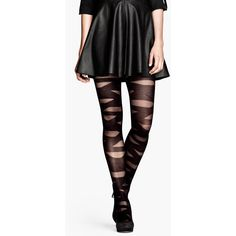 H&M Patterned tights (€8,36) ❤ liked on Polyvore featuring intimates, hosiery, tights, skirts, tights & leggings, sheer tights, print tights, patterned stockings, patterned pantyhose and sheer patterned tights
