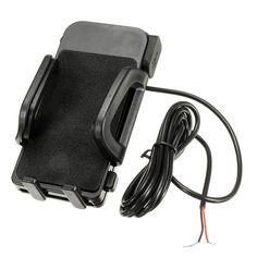 12-85V Teléfono GPS Soporte USB Impermeable Telescópico Universal Para Scooters Eléctricos Moto Bicicleta