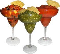 Salsa in a Margarita glass, very classy!