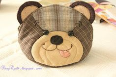 Welcome to Story Quilt: May 2012, Story Quilt Teddy Bear Pouches - Happy Bear and Naughty Bear