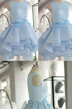A line Homecoming Dresses Short/Mini Prom/Homecoming Dresses Short Prom Dresses #homecomingdresses #shortpromdresses #pratydresses #promdresses