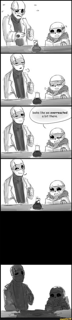 Sans and W.D. Gaster from Undertale