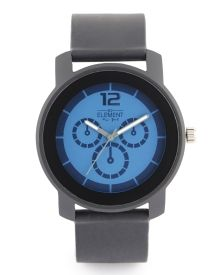 Men's Silicone Strap Watch - A great looking watch for any occasion, this Element New York watch features a classic round dial with printed subdials and a silicone strap.