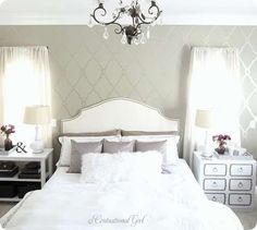 Do It Yourself Upholstered Nailhead Trim Headboard --- my soon to be next project