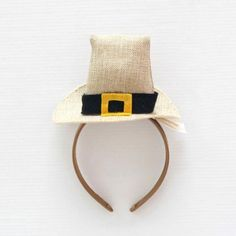 8-inch Thanksgiving Burlap Headband - Hat
