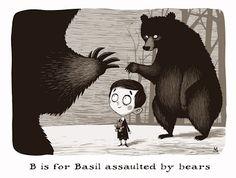 the Little White Bat: B is for Basil