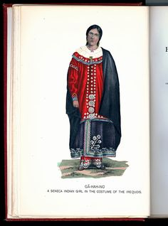 Iroquois Clothes | Figure5b – An illustration of Caroline wearing the same dress. From ...