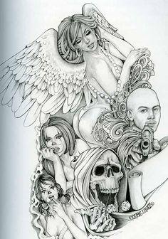 TattooLove on Pinterest | Chicano Art, Sugar Skull and Chicano